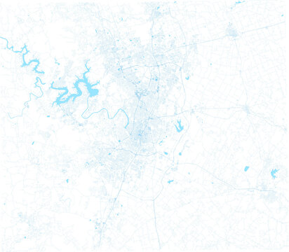 detailed city map of Austin