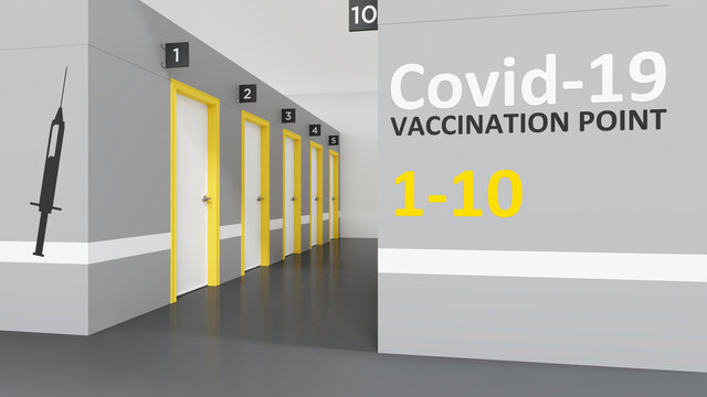 Corona vaccination center doors