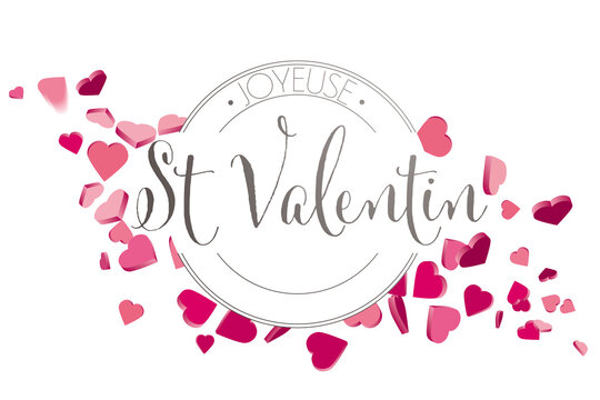 French Valentines day hearts