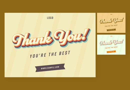 Thank You Cards Layout Set