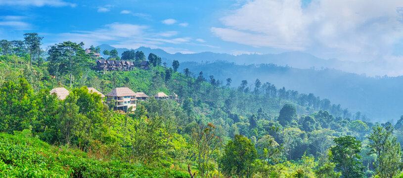 Panorama of Ella mountains, Sri Lanka