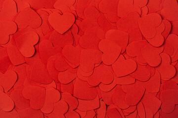 Fototapeta Full frame background of heart shapes. Valentines Day background. obraz