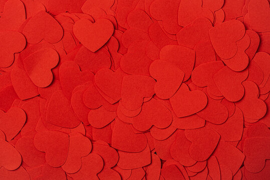 Full frame background of heart shapes. Valentines Day background.