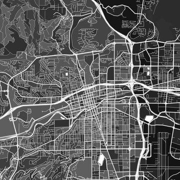 Reno, UnitedStates dark vector art map