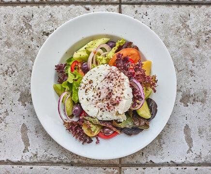 portion of greek salad