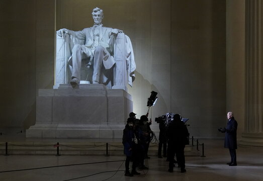 """""""Celebrating America"""" event at Lincoln Memorial following Joe Biden's inauguration as the 46th President of the United States"""