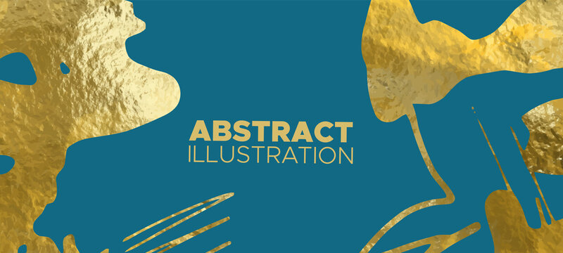 Vector Blue and Gold Design Templates for banner.