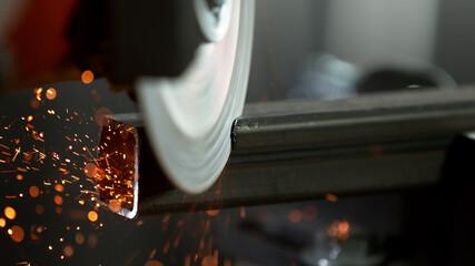 Fototapeta Metal sawing in detail