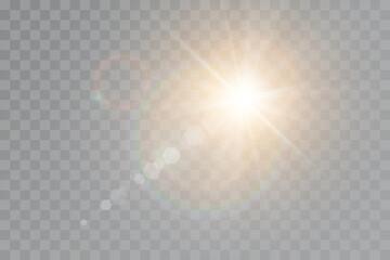 Obraz Vector transparent sunlight special lens flare light effect - fototapety do salonu