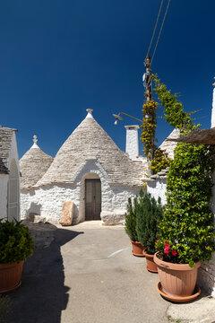 Trulli houses in Alberobello, UNESCO site, Apulia region, Italy