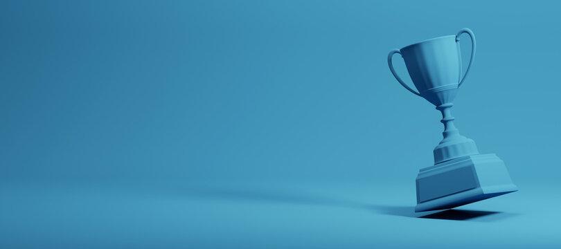 blue trophy cup