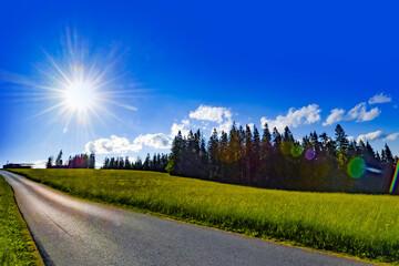 Słońce, krajobraz
