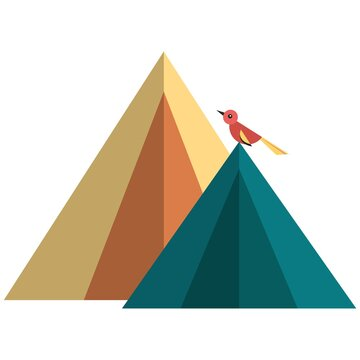 Camping tent icon, flat vector isolated illustration. Tourist hiking, backpacking tents.