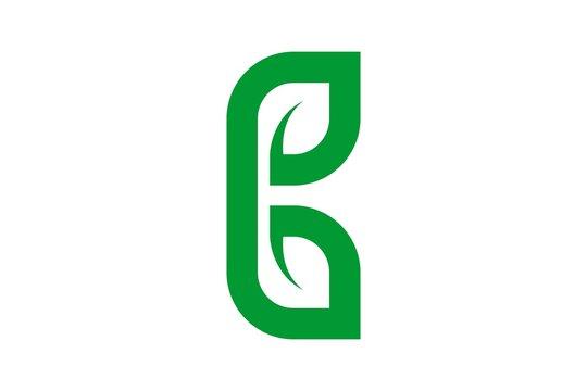 monogram letter B and leaf logo