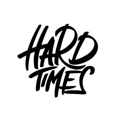 Hard Times typography, lettering logo