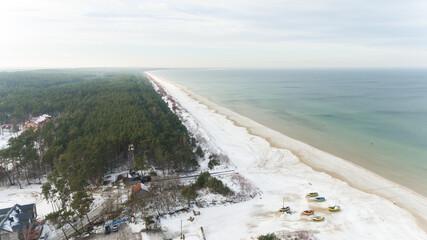 Plaża Jantar zimą