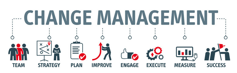 Change Management  Vector Illustration Concept on white background