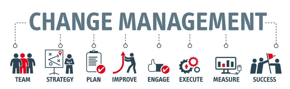 Change Management  Vector Illustration Concept on white background