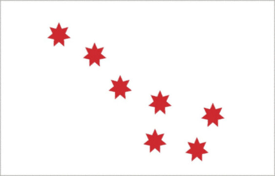 """The Flag Book of the United States"" the Cherokee are reported to have a white flag bearing seven red seven pointed stars. This flag was called a ""peace flag"""