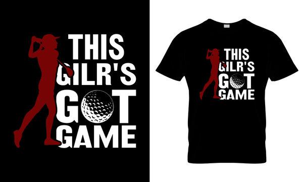 Golf T Shirt Design, T Shirt Design Concept, Golf game T Shirt Design, Game T Shirt Design ,