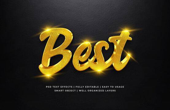 Best Gold 3d Text Style Effect