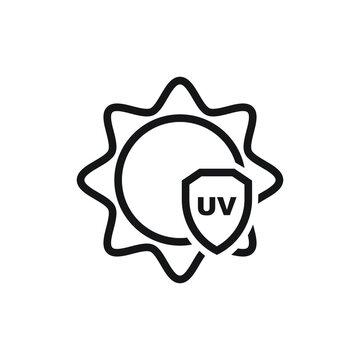 UV protection icon design. vector illustration