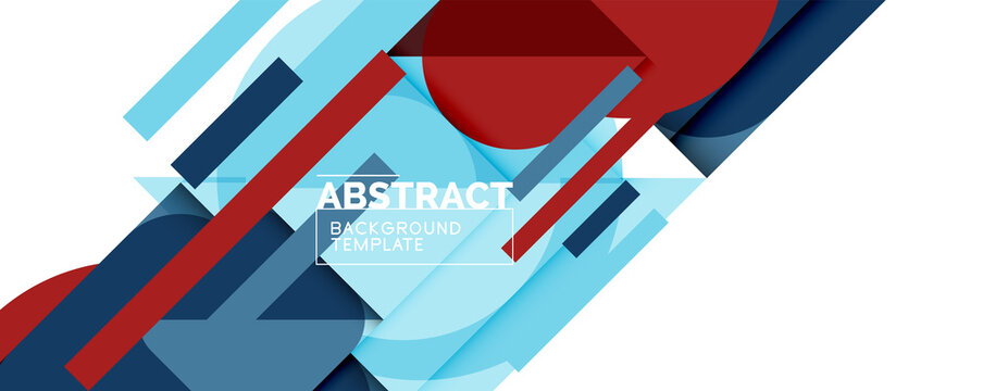 Clean minimal geometric abstract background with triangles and circles. Vector illustration for covers, banners, flyers and posters and other designs