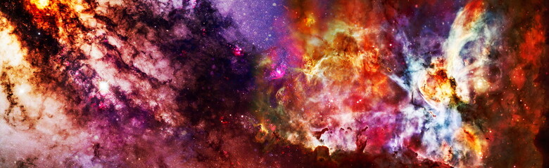 Starfield stardust and nebula space. Galaxy creative background. Collage on space, science and education items. Elements of this image furnished by NASA.