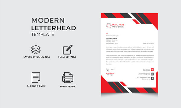 letterhead design corporate letterhead with unique concept