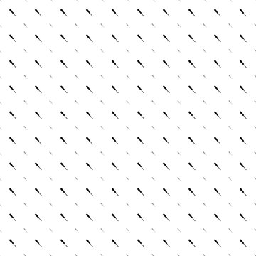 Square seamless background pattern from geometric shapes are different sizes and opacity. The pattern is evenly filled with black screwdriver symbols. Vector illustration on white background