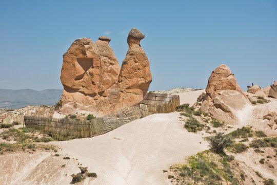 Magnificent stone structure in a shape of a camel near Goreme, Cappadocia, Anatolia, Turkey