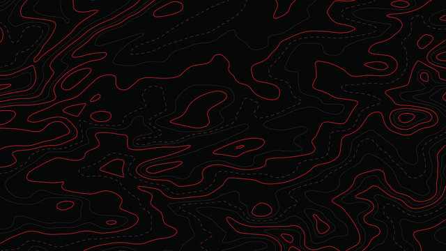 Topographic map.Abstract background with lines and circles.Vector illustration.