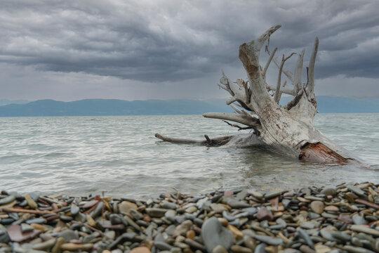 Stormy day on Flathead Lake Montana