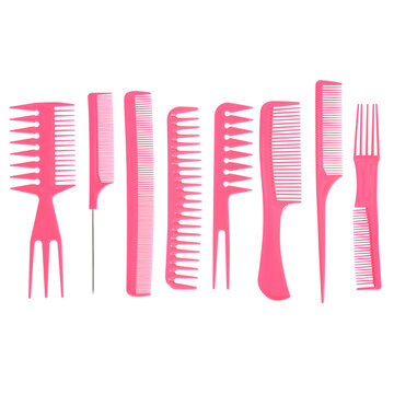 High Resolution Hair Comb Beauty Shot, Standard Comb Set, Hair Styling, Hair Tools, Beauty Hair Essentials, Haircare, Comb Listing Photography, Hair Product, Daily Routine Essential, Versatile Hair
