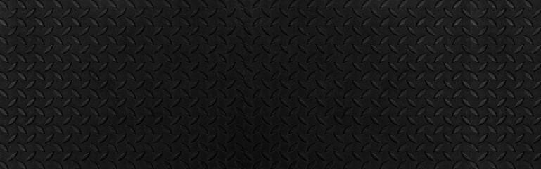 Panorama of Black Diamond Steel Plate Floor pattern and seamless background