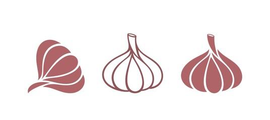 Obraz Garlic logo. Isolated garlic on white background - fototapety do salonu