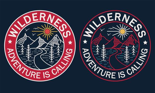 Wilderness Adventure is Calling vector design