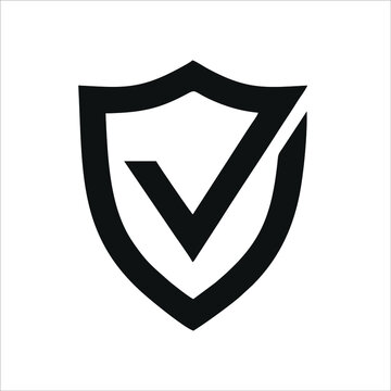 Security vector icon isolated on white background. Shield security icon. Security lock icon.
