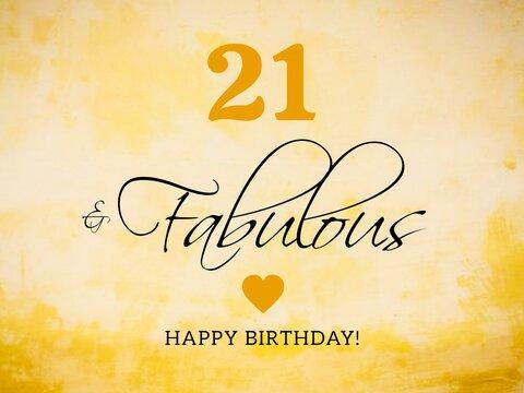 21st birthday card wishes illustration