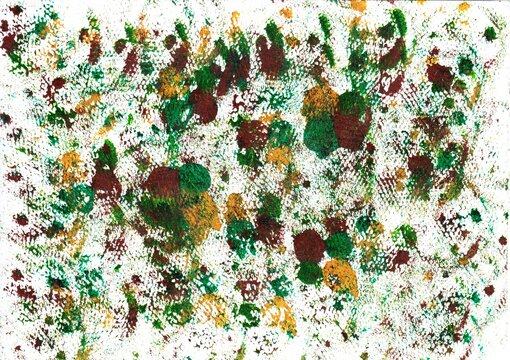 Acrylic background in the colors green and brown