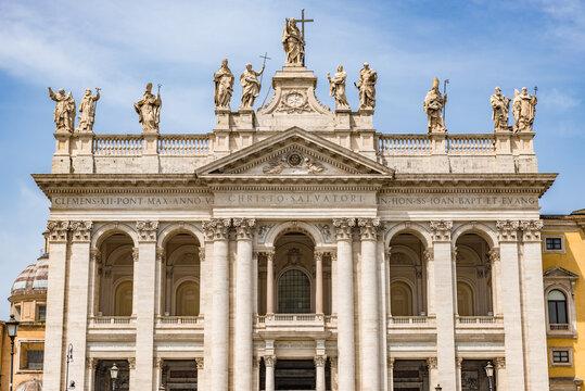 Archbasilica of Saint John Lateran (Basilica di San Giovanni in Laterano) in Rome, Italy