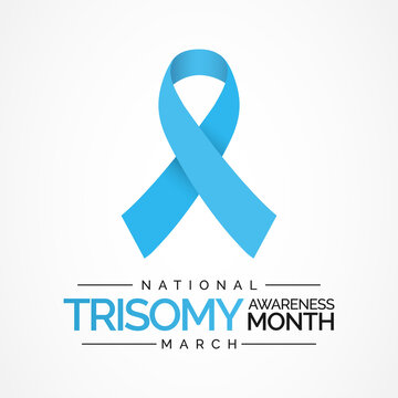 Vector illustration on the theme of Trisomy awareness month, A trisomy is a chromosomal condition characterized by an additional chromosome. A person with a trisomy has 47 chromosomes instead of 46.