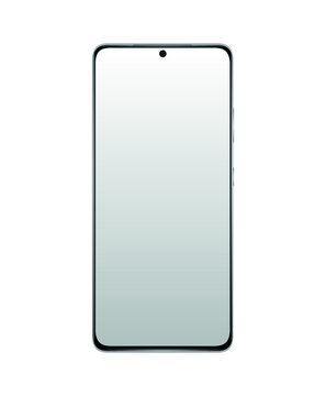 Realistic vector flat mock-up Smartphone Plus with blank screen isolated on white background. Scale image any resolution