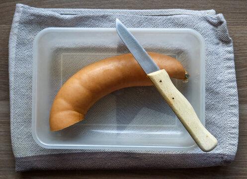 Brotzeit mit Fleischwurst