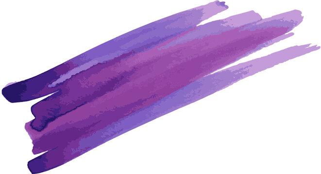 Purple watercolor brushstrokes