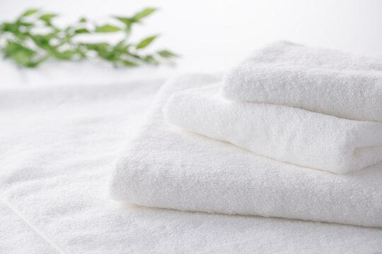 真っ白で柔らかい、清潔なタオル