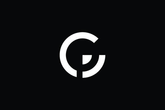 CP logo letter design on luxury background. PC logo monogram initials letter concept. CP icon logo design. PC elegant and Professional letter icon design on black background. C P PC CP