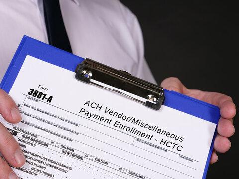 Form 3881-A ACH Vendor/Miscellaneous Payment Enrollment - HCTC