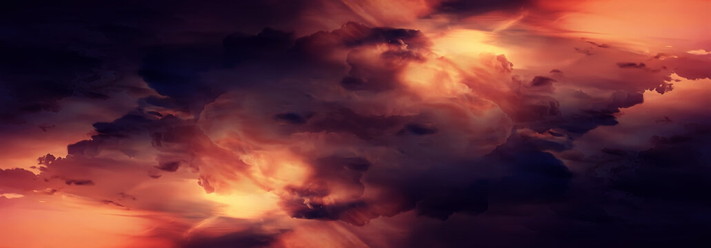 orange sky universe swirling abstract background