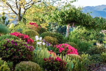 wiosenny ogród, piękny ogród, ogród, garden, beautiful garden, zielony ogród, nowoczesny ogród,